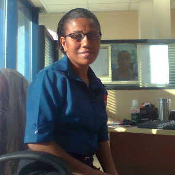 Caroline Penrose, 34, Port Moresby, Papua New Guinea