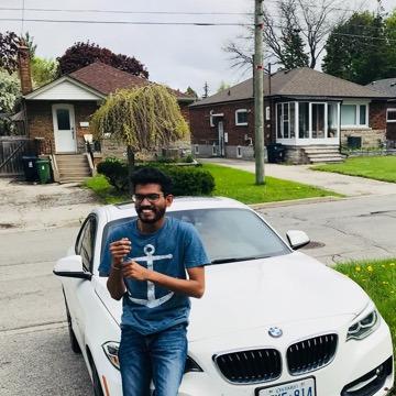 Arun Saran Kumar, 27, Toronto, Canada