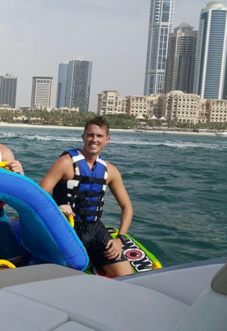 David Wright, 32, Dubai, United Arab Emirates